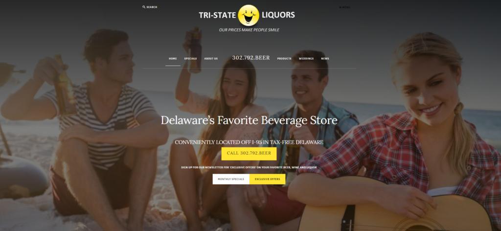 Tri-State Liquors Website Design