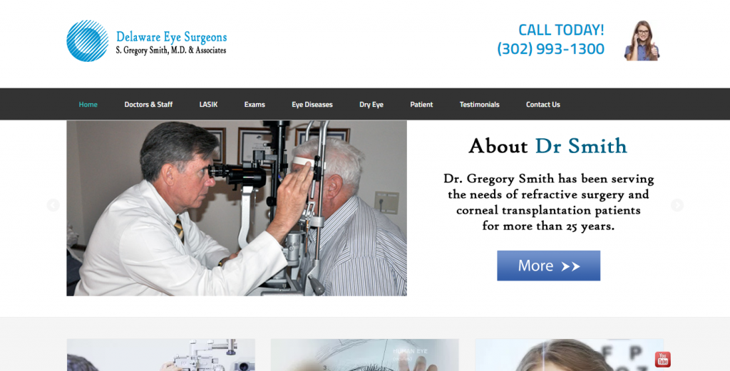 Delaware Eye Surgeons Website Design