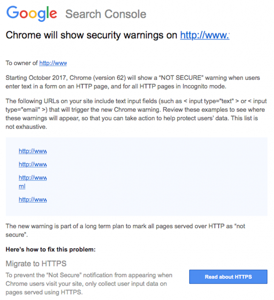 Important Information About Security Warnings in Google Chrome