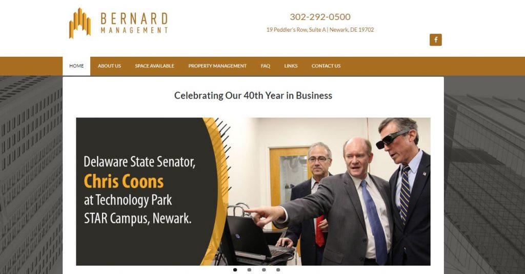 Bernard Management Website Design
