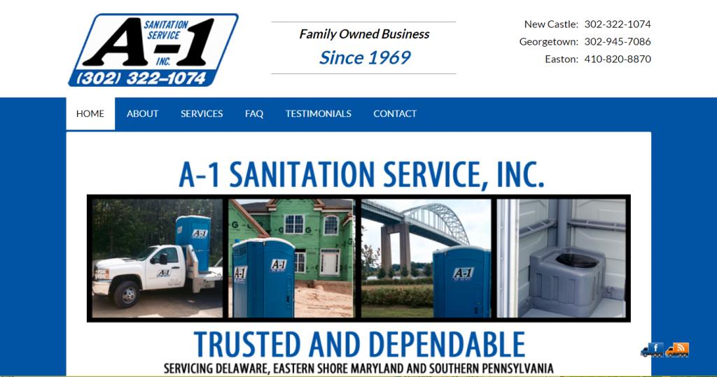 A1 Sanitation Website Design