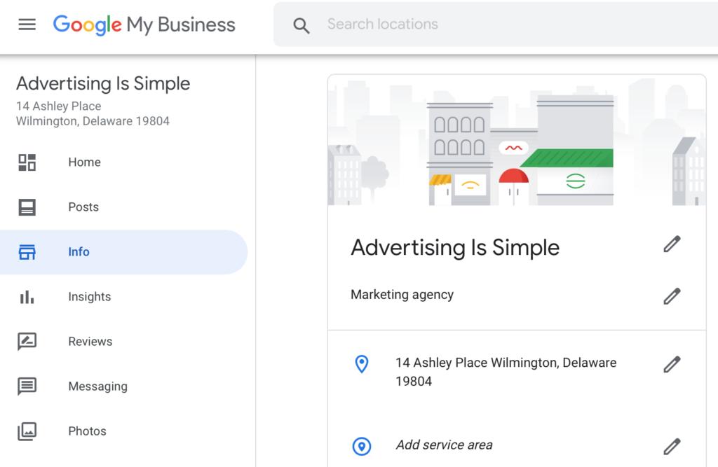 Google My Business Service Area feature