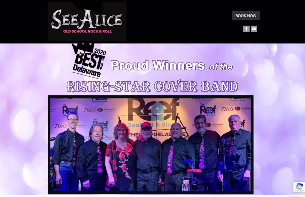 See Alice Rock & Roll Band Website Design by Advertising Is Simple in Delaware